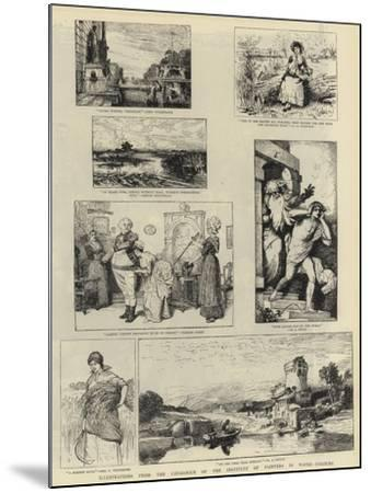 Illustrations from the Catalogue of the Institute of Painters in Water-Colours--Mounted Giclee Print
