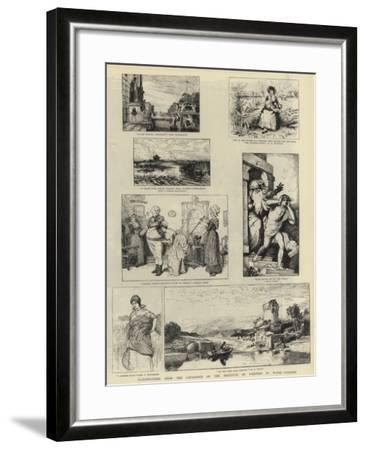 Illustrations from the Catalogue of the Institute of Painters in Water-Colours--Framed Giclee Print