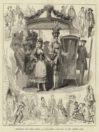Offenbach's New Opera Bouffe, La Boulangere a Des Ecus, at the Varietes, Paris--Framed Giclee Print