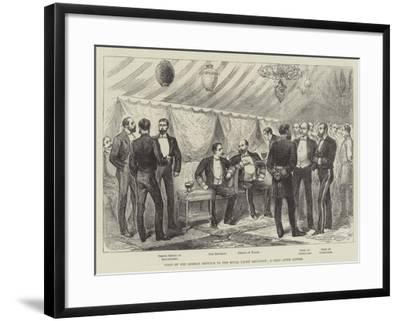 Visit of the German Emperor to the Royal Yacht Squadron, a Chat after Dinner--Framed Giclee Print