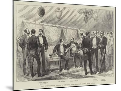 Visit of the German Emperor to the Royal Yacht Squadron, a Chat after Dinner--Mounted Giclee Print