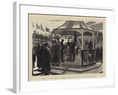 Arrival of the Prince of Wales at Portsmouth, the Mayor Reading the Address--Framed Giclee Print