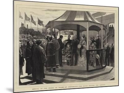 Arrival of the Prince of Wales at Portsmouth, the Mayor Reading the Address--Mounted Giclee Print