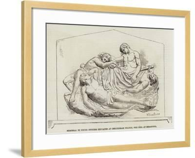 Memorial to Young Officers Educated at Cheltenham College, Who Fell at Sebastopol--Framed Giclee Print