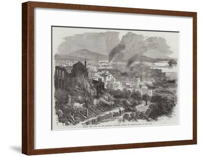Canton and Part of the Suburbs, Sketched During the Conflagration in the City--Framed Giclee Print