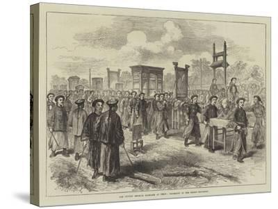 The Chinese Imperial Marriage at Pekin, Procession of the Bride's Trousseau--Stretched Canvas Print