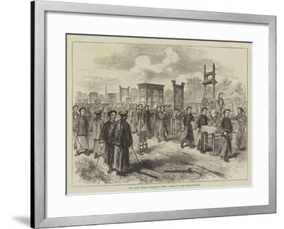 The Chinese Imperial Marriage at Pekin, Procession of the Bride's Trousseau--Framed Giclee Print
