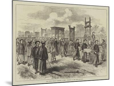 The Chinese Imperial Marriage at Pekin, Procession of the Bride's Trousseau--Mounted Giclee Print