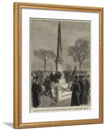 Unveiling the Monument of the Late Sir Richard Mayne at Kensal-Green Cemetery--Framed Giclee Print