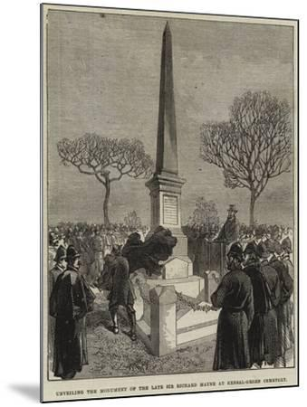 Unveiling the Monument of the Late Sir Richard Mayne at Kensal-Green Cemetery--Mounted Giclee Print