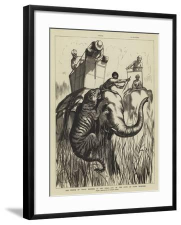 The Prince of Wales Hunting in the Terai, One of the Suite at Close Quarters--Framed Giclee Print
