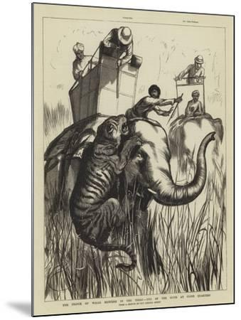 The Prince of Wales Hunting in the Terai, One of the Suite at Close Quarters--Mounted Giclee Print