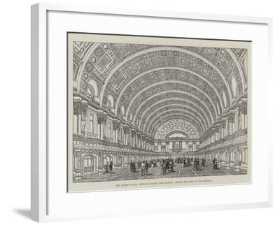 The Queen's Hall, People's Palace, East London, Opened This Day by Her Majesty--Framed Giclee Print