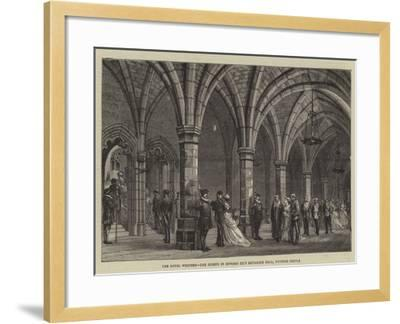 The Royal Wedding, the Guests in Edward Iii's Entrance Hall, Windsor Castle--Framed Giclee Print