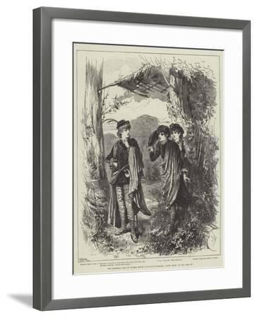 The Pastoral Play at Coombe House, Kingston-On-Thames, Scene from As You Like It--Framed Giclee Print