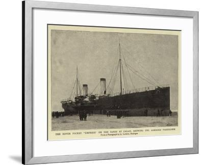 The Dover Packet Empress on the Sands at Calais, Showing the Damaged Paddle-Box--Framed Giclee Print