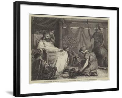 David Showing the Head of Goliath to Saul (Royal Academy Gold Medal Painting)--Framed Giclee Print