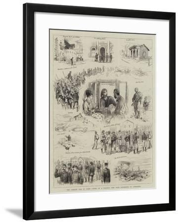 The Carlist War in Spain, Notes of a Railway Trip from Barcelona to Saragossa--Framed Giclee Print