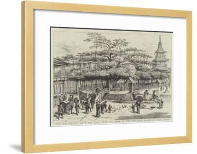 The Dai Matsu, or Giant Pine Tree of Japan on the Western Shore of Lake Biwa--Framed Giclee Print