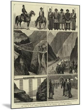 The War in South America, Recruiting for the Peruvian Army in the Cordillera--Mounted Giclee Print