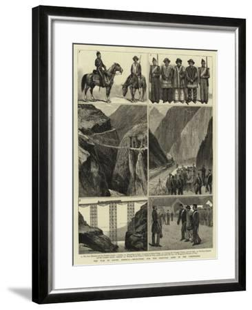 The War in South America, Recruiting for the Peruvian Army in the Cordillera--Framed Giclee Print