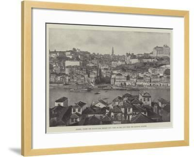 Oporto, Where the Plague Has Broken Out, View of the City from the Railway Station--Framed Giclee Print