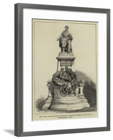 The Late Gustave Dore's Statue of Alexandre Dumas on the Place Malesherbes, Paris--Framed Giclee Print