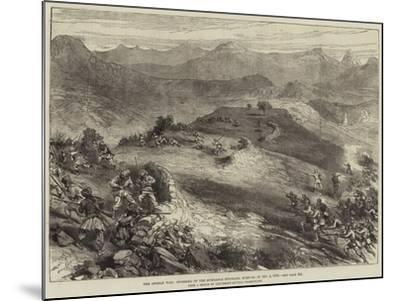 The Afghan War, Storming of the Spingawai Stockade, Morning of 2 December 1878--Mounted Giclee Print