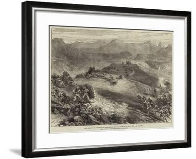 The Afghan War, Storming of the Spingawai Stockade, Morning of 2 December 1878--Framed Giclee Print