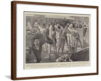 The Soudan Advance, the Grenadiers on their Way to the Front, a Last Drink in Cairo--Framed Giclee Print