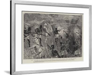 The Vanguard of the Expedition Attacked by the Forest Dwarfs with Poisoned Arrows--Framed Giclee Print