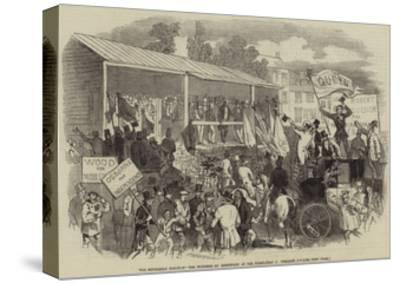 The Middlesex Election, the Hustings at Brentford at the Nomination on Wednesday--Stretched Canvas Print