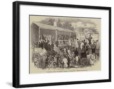 The Middlesex Election, the Hustings at Brentford at the Nomination on Wednesday--Framed Giclee Print