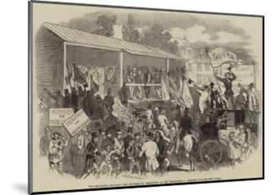 The Middlesex Election, the Hustings at Brentford at the Nomination on Wednesday--Mounted Giclee Print