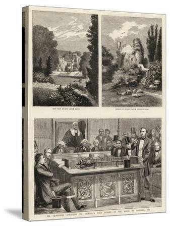 Mr Gladstone Attacking Mr Disraeli's First Budget in the House of Commons, 1852--Stretched Canvas Print