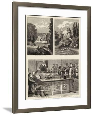 Mr Gladstone Attacking Mr Disraeli's First Budget in the House of Commons, 1852--Framed Giclee Print