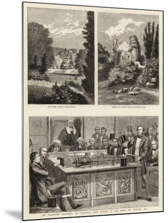 Mr Gladstone Attacking Mr Disraeli's First Budget in the House of Commons, 1852--Mounted Giclee Print