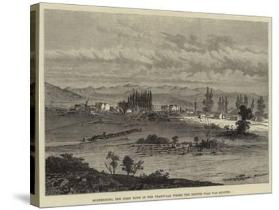 Rustenburg, the First Town in the Transvaal Where the British Flag Was Hoisted--Stretched Canvas Print