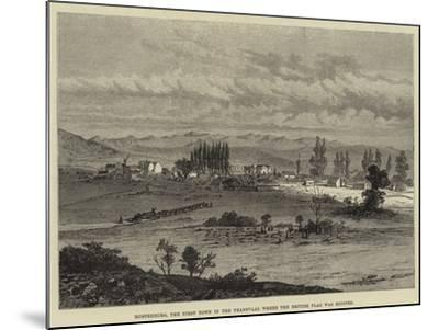 Rustenburg, the First Town in the Transvaal Where the British Flag Was Hoisted--Mounted Giclee Print