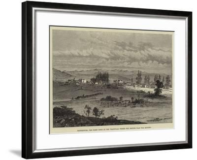 Rustenburg, the First Town in the Transvaal Where the British Flag Was Hoisted--Framed Giclee Print