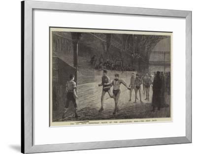 The Six Day's Pedestrian Match at the Agricultural Hall, the First Hour--Framed Giclee Print
