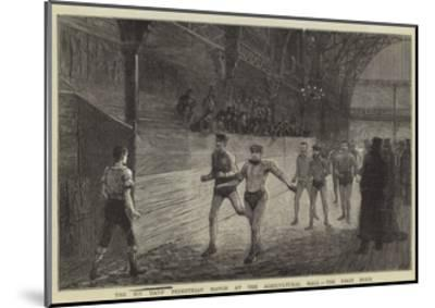 The Six Day's Pedestrian Match at the Agricultural Hall, the First Hour--Mounted Giclee Print