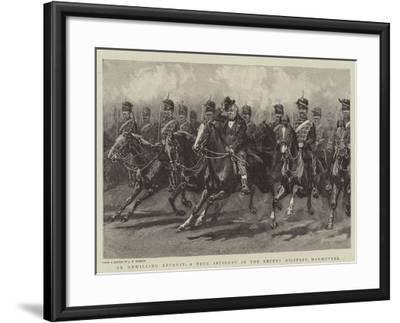An Unwilling Recruit, a True Incident in the Recent Military Manoeuvres--Framed Giclee Print