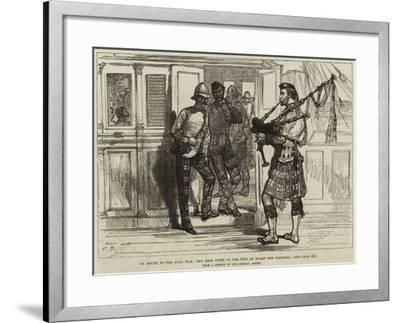 En Route to the Zulu War, the Mess Piper of the 91st on Board the Pretoria--Framed Giclee Print