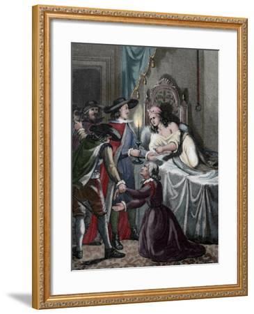 Alain-Rene Lesage (1668-1747). French Novelist and Playwright.. Scene Novel Gil Blas. Coloured. Fra--Framed Giclee Print