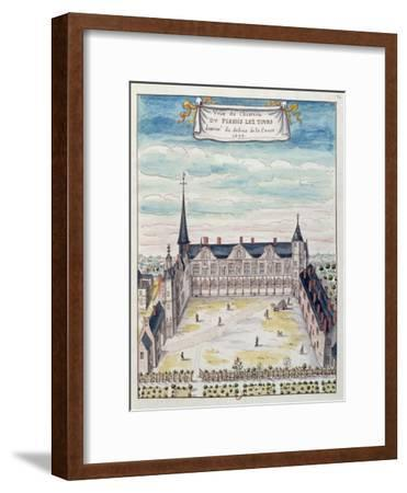 View of the Chateau De Plessis-Les-Tours in the Tourraine, 1699 (See also 173766)--Framed Giclee Print