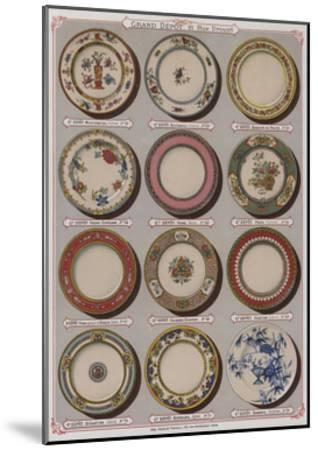 Page from the Catalogue of the Grand Depot De Porcelaines, Faiences Et Verreries--Mounted Giclee Print