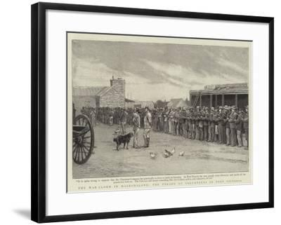 The War-Cloud in Mashonaland, the Parade of Volunteers in Fort Victoria--Framed Giclee Print