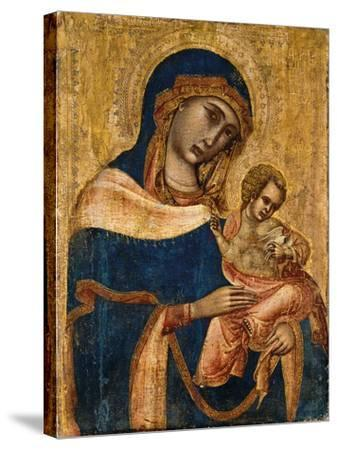 Madonna and Child, 2nd Quarter of the 14th Century (Tempera and Gold on Panel)--Stretched Canvas Print