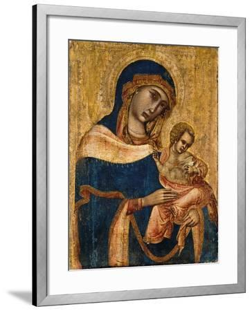 Madonna and Child, 2nd Quarter of the 14th Century (Tempera and Gold on Panel)--Framed Giclee Print